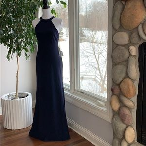 NWT Lulus navy prom dress
